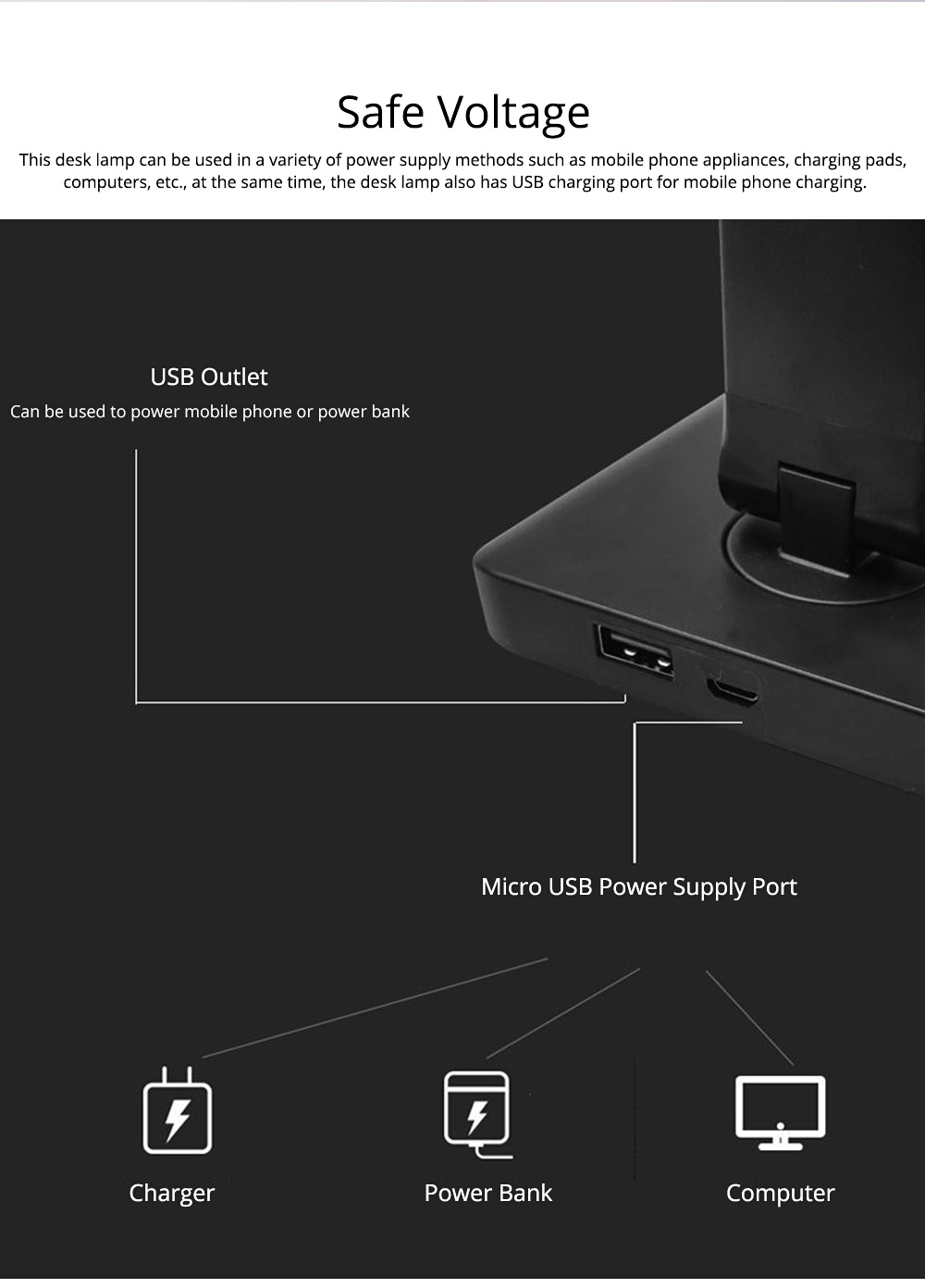 Intelligent Touch Lighting, Foldable Adjustment Rotation Aluminum Table Light for Students, Wireless Charging 5 Settings LED Table Lamp 9
