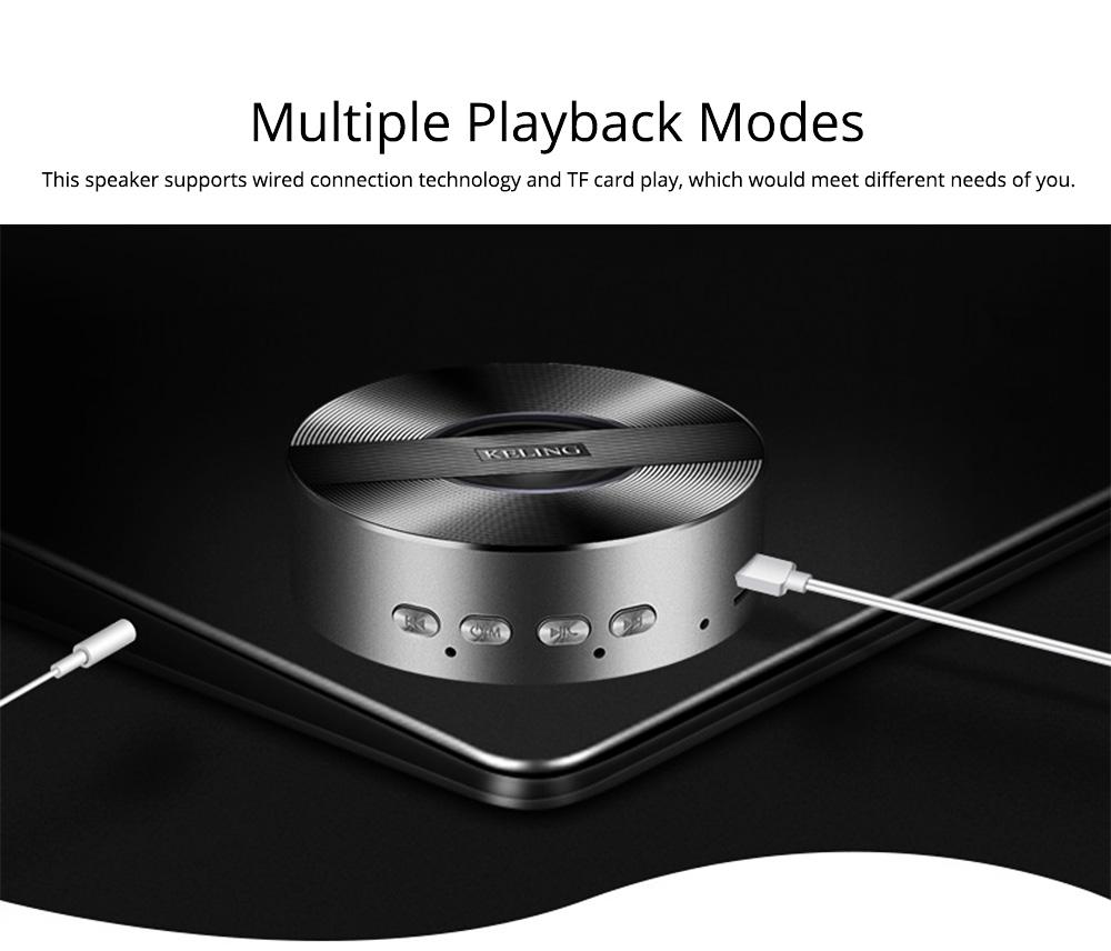 Mini Wireless Bluetooth Speaker, Delicate Subwoofer Card Sound Hands Free Calling Loudspeaker, Portable Phone Audio 5