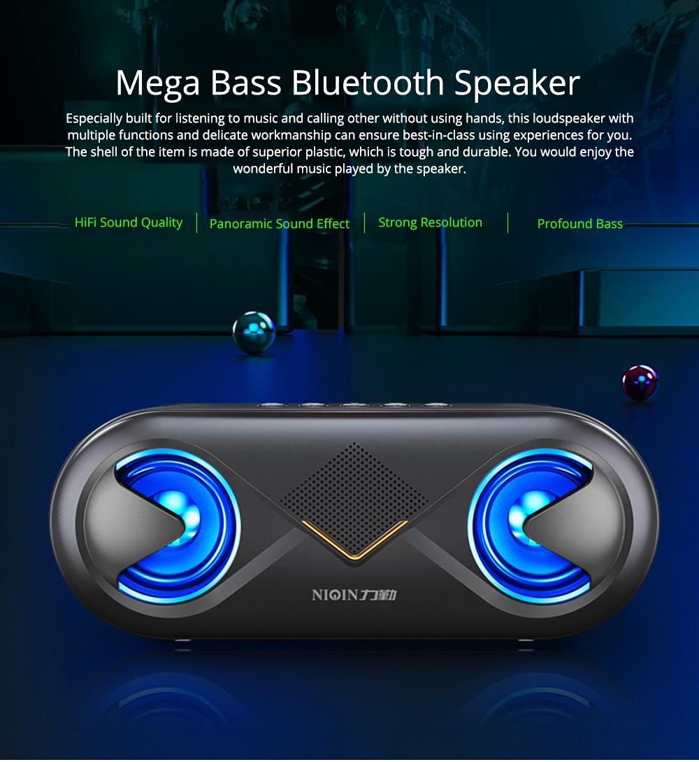 Household Two-eye Design Mini Portable Wireless Bluetooth Speaker, Outdoors Mobile Phone Mega Bass Loudspeaker Sound Box 0