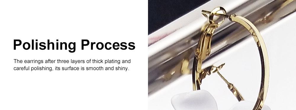 925 Silver Earrings, Fashion Asymmetric Long Pendant, Chic Gold Circle Hoop Seaside Holiday Style Flower Eardrop 4