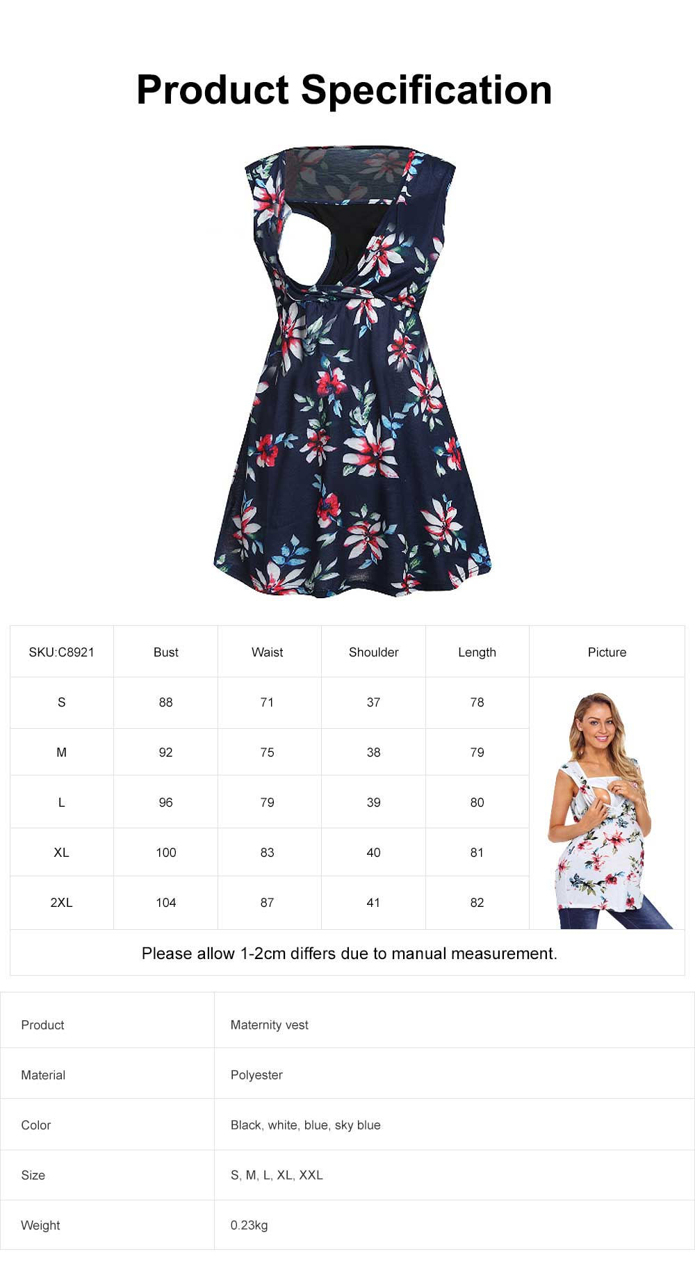 Pregnant Women Clothes, Fashion New Printing Women Vest, Cross Breastfeeding Maternity T-shirt 6