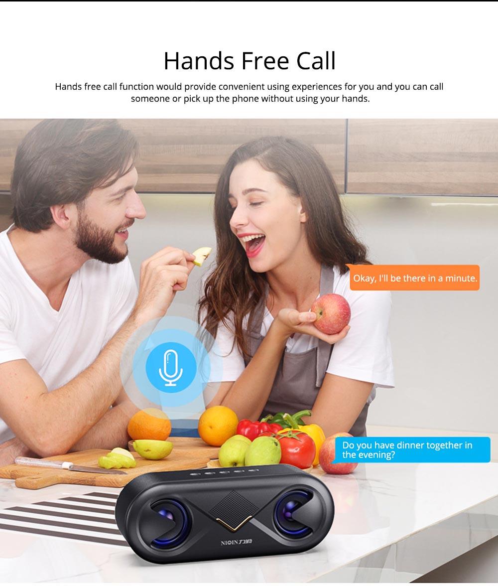 Household Two-eye Design Mini Portable Wireless Bluetooth Speaker, Outdoors Mobile Phone Mega Bass Loudspeaker Sound Box 8