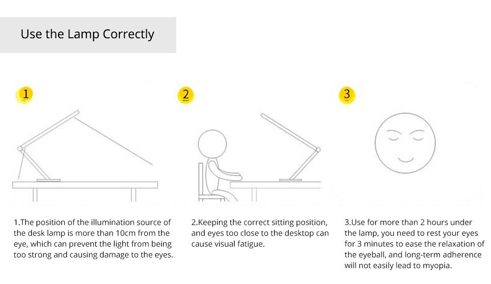 Creative Minimalist Fashion Large Foldable Eye Protection Table Lamp, Modern Tough Aluminum Bedside Office Light 10W Cool White 6