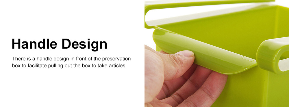 Refrigerator Storage Box, PP Kitchen Drawer-type Preservation Box, Refrigerator Interlayer Tray Commodity Shelf Organizer Container 4