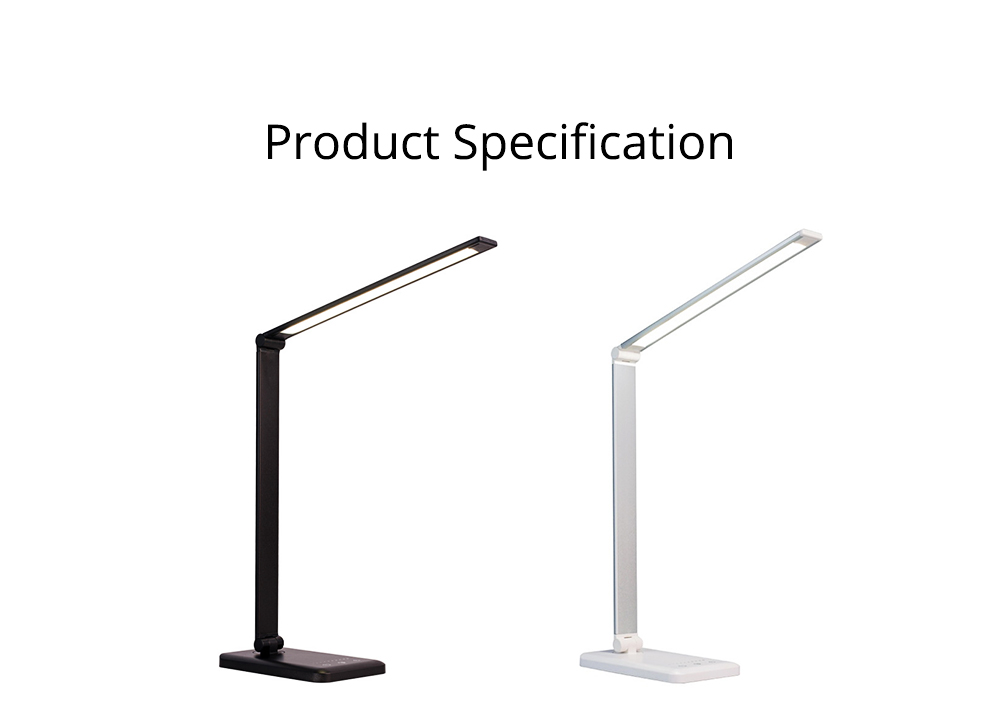Intelligent Touch Lighting, Foldable Adjustment Rotation Aluminum Table Light for Students, Wireless Charging 5 Settings LED Table Lamp 10