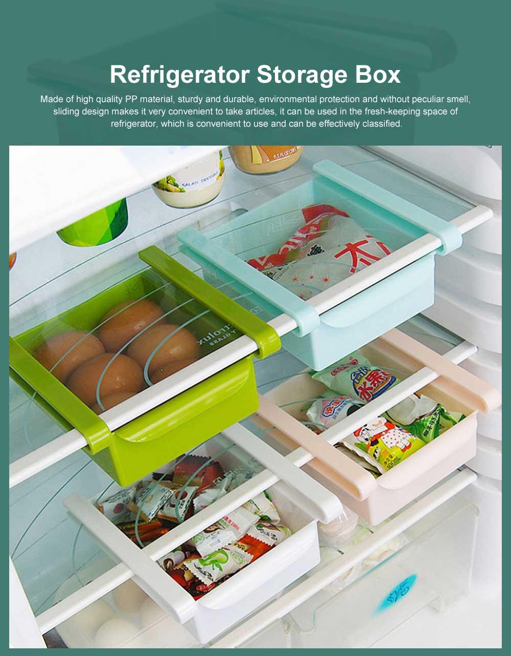 Refrigerator Storage Box, PP Kitchen Drawer-type Preservation Box, Refrigerator Interlayer Tray Commodity Shelf Organizer Container 0