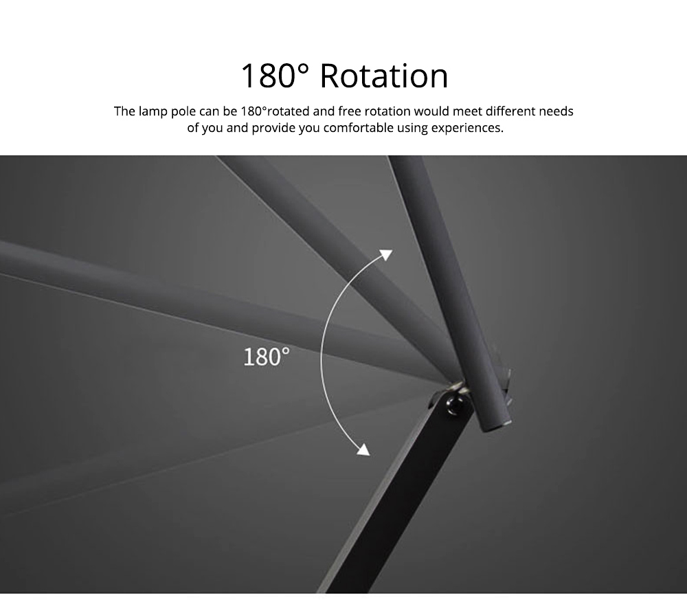 Creative Minimalist Fashion Large Foldable Eye Protection Table Lamp, Modern Tough Aluminum Bedside Office Light 10W Cool White 5