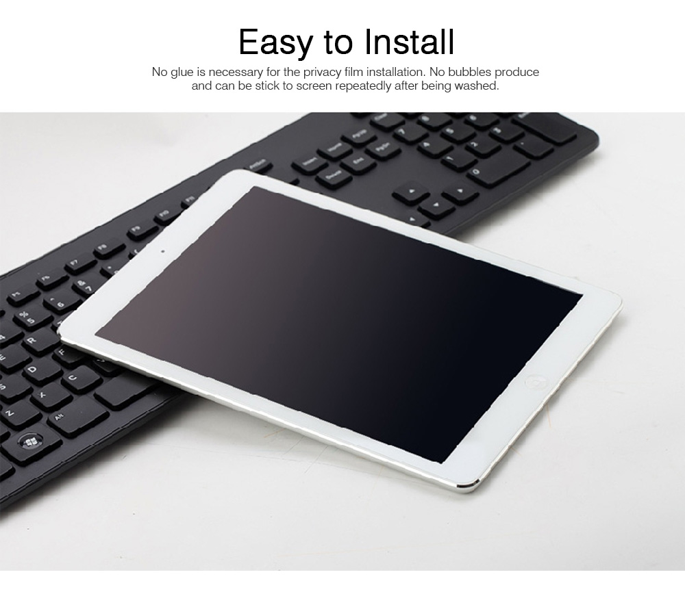 Privacy Film for iPad Screen Protective, Peep-proof Protection Film Skin Apple iPad air 2,iPad mini1 2 3,iPad2 3 4,iPad mini 4, iPad pro 9.7, Pro 12.9 10.5 3