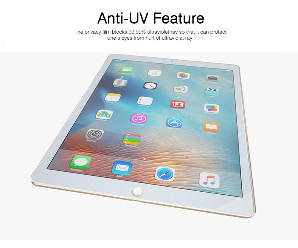 Privacy Film for iPad Screen Protective, Peep-proof Protection Film Skin Apple iPad air 2,iPad mini1 2 3,iPad2 3 4,iPad mini 4, iPad pro 9.7, Pro 12.9 10.5 2