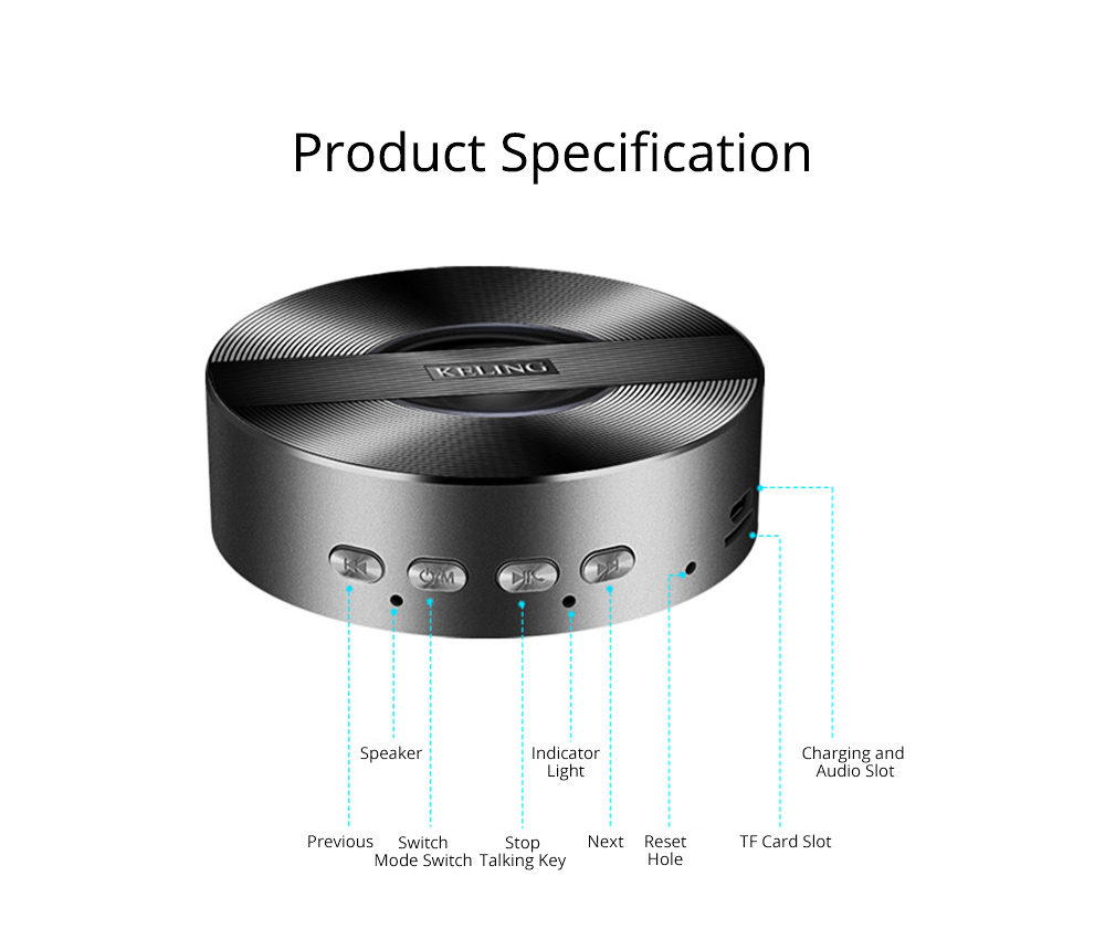 Mini Wireless Bluetooth Speaker, Delicate Subwoofer Card Sound Hands Free Calling Loudspeaker, Portable Phone Audio 10