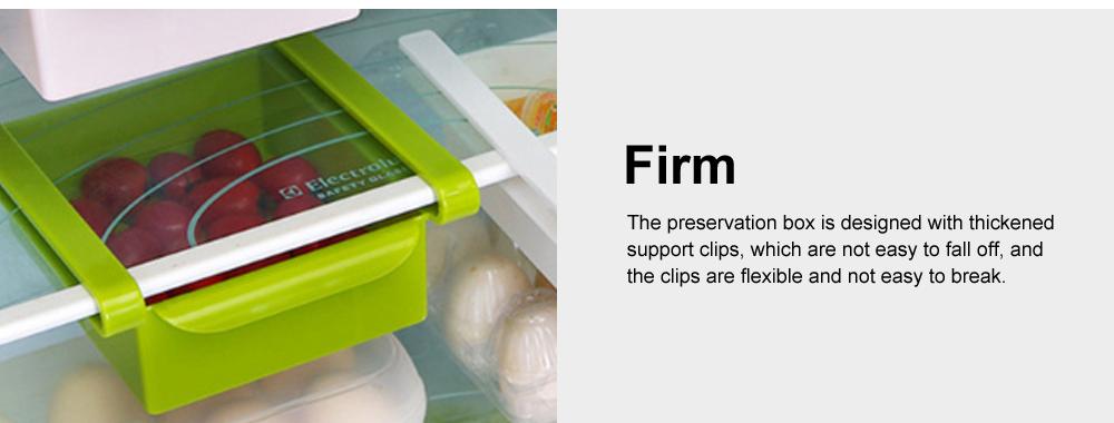 Refrigerator Storage Box, PP Kitchen Drawer-type Preservation Box, Refrigerator Interlayer Tray Commodity Shelf Organizer Container 3