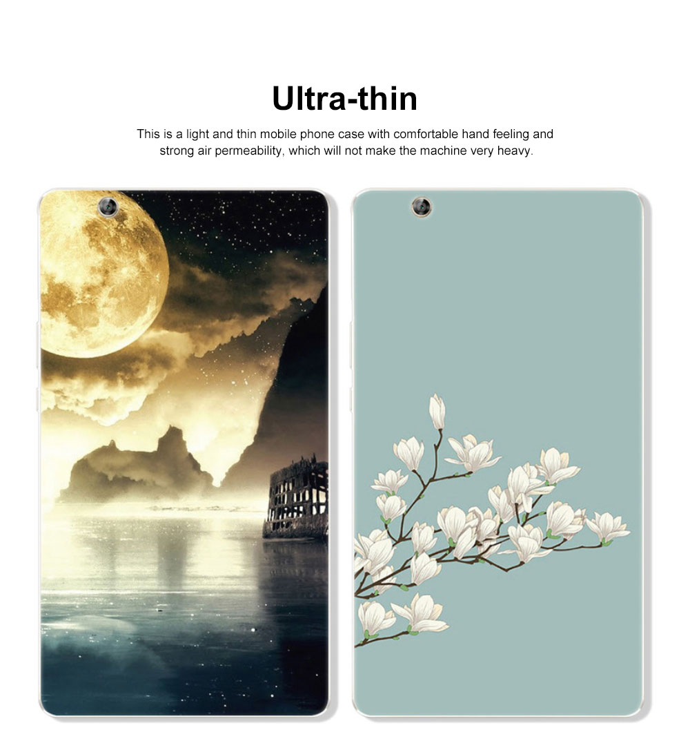 Huawei Tablet PC M3 Protective Case, TPU HD Painted Cartoon Tablet PC Protective Cover for HUAWEI m3 8.4 inch 1