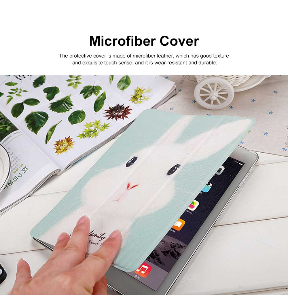 Imitation Leather Protective Cover, Ultra-thin Shockproof Dormancy Protective Case for iPad Mini 4 5 12 3, Air 1 2, New iPad 9.7 2018 2017 5