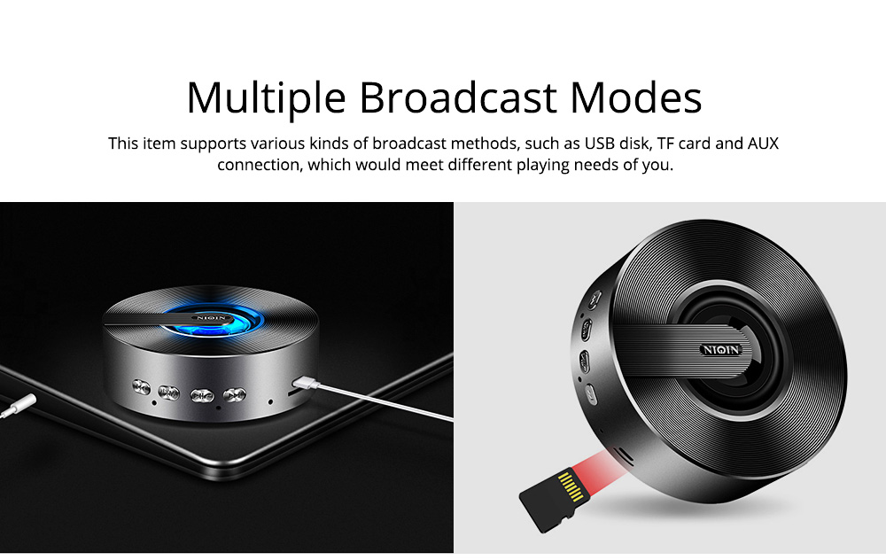 Mini Portable Sanded Plastic Speaker Sound Box, Delicate Mobile Phone Bluetooth Loudspeaker with Notify 7 Colors Light 5