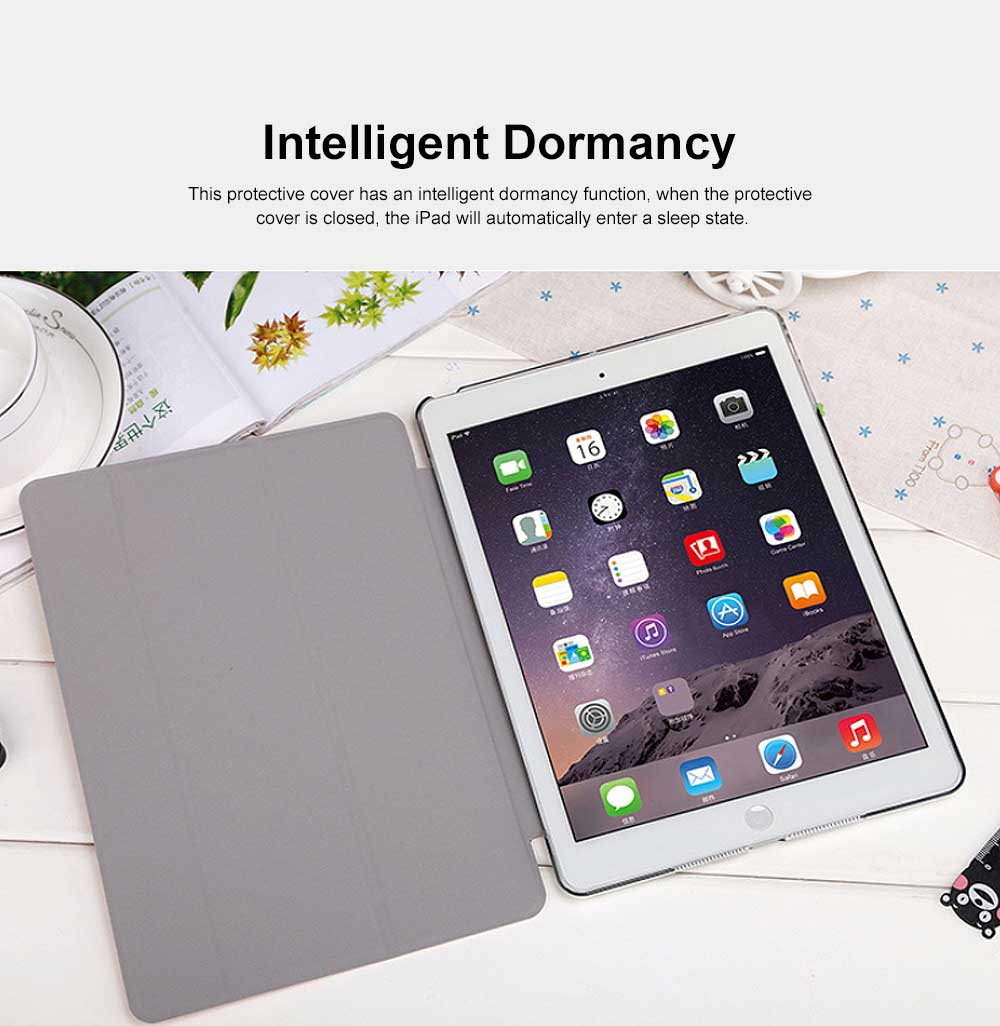 Imitation Leather Protective Cover, Ultra-thin Shockproof Dormancy Protective Case for iPad Mini 4 5 12 3, Air 1 2, New iPad 9.7 2018 2017 4