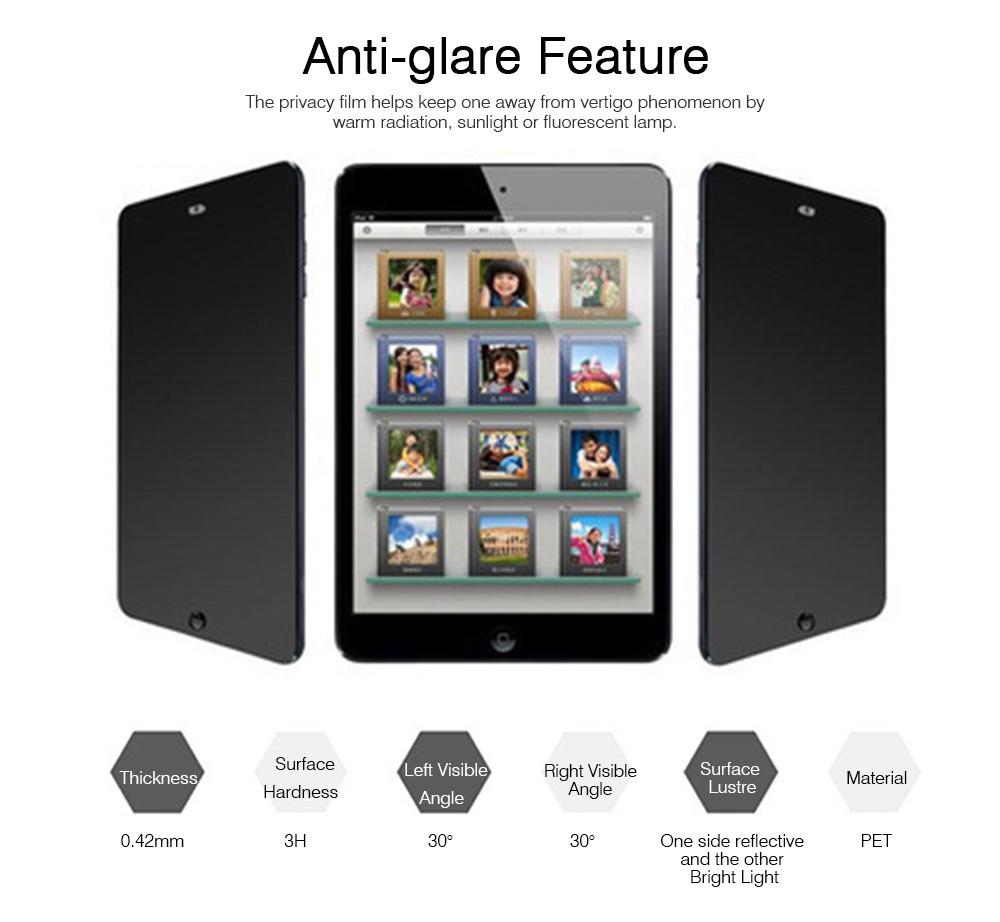 Privacy Film for iPad Screen Protective, Peep-proof Protection Film Skin Apple iPad air 2,iPad mini1 2 3,iPad2 3 4,iPad mini 4, iPad pro 9.7, Pro 12.9 10.5 4