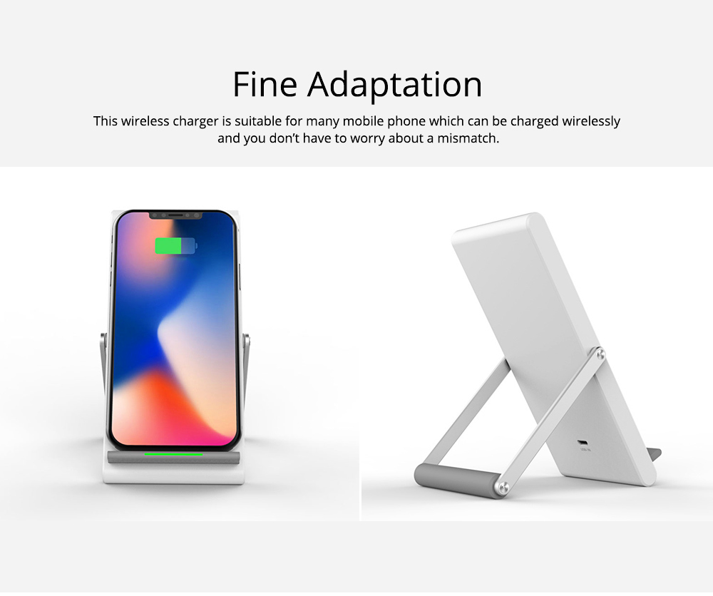 Minimalist Functional iPhone Samsung Huawei Xiaomi Wireless Charger, 10W 1.2A Quick Charge Mobile Phone Charger Supporter 4