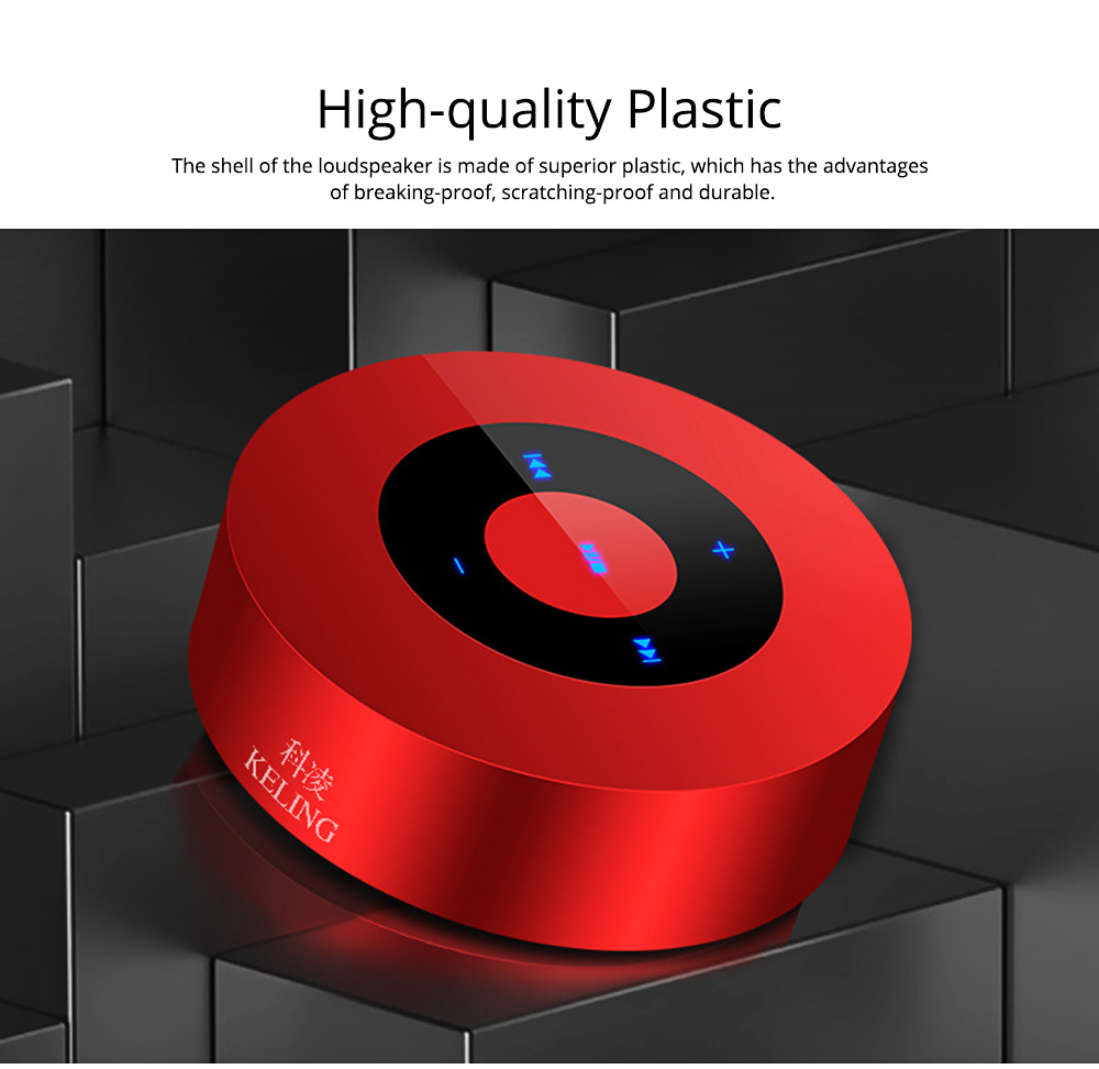 Delicate Small Mobile Phone Wireless Bluetooth Speaker, Mini Quality Breaking-proof Plastic Loudspeaker Sound Box 1