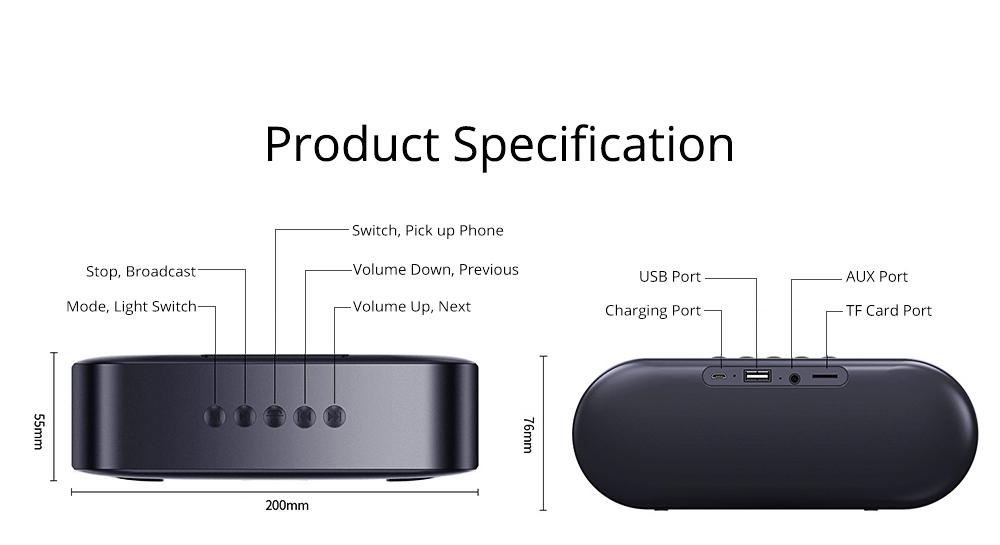 Household Two-eye Design Mini Portable Wireless Bluetooth Speaker, Outdoors Mobile Phone Mega Bass Loudspeaker Sound Box 9