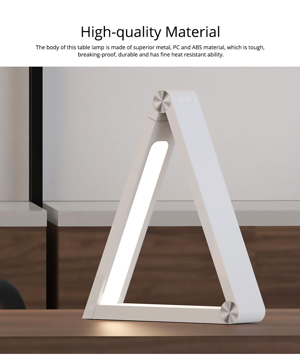 Creative Unique Triangle Foldable Multifunctional LED Table Lamp with Wireless Charger, Eye Protection Business Study Reading Intelligent Wireless Charging Tablet Light 9