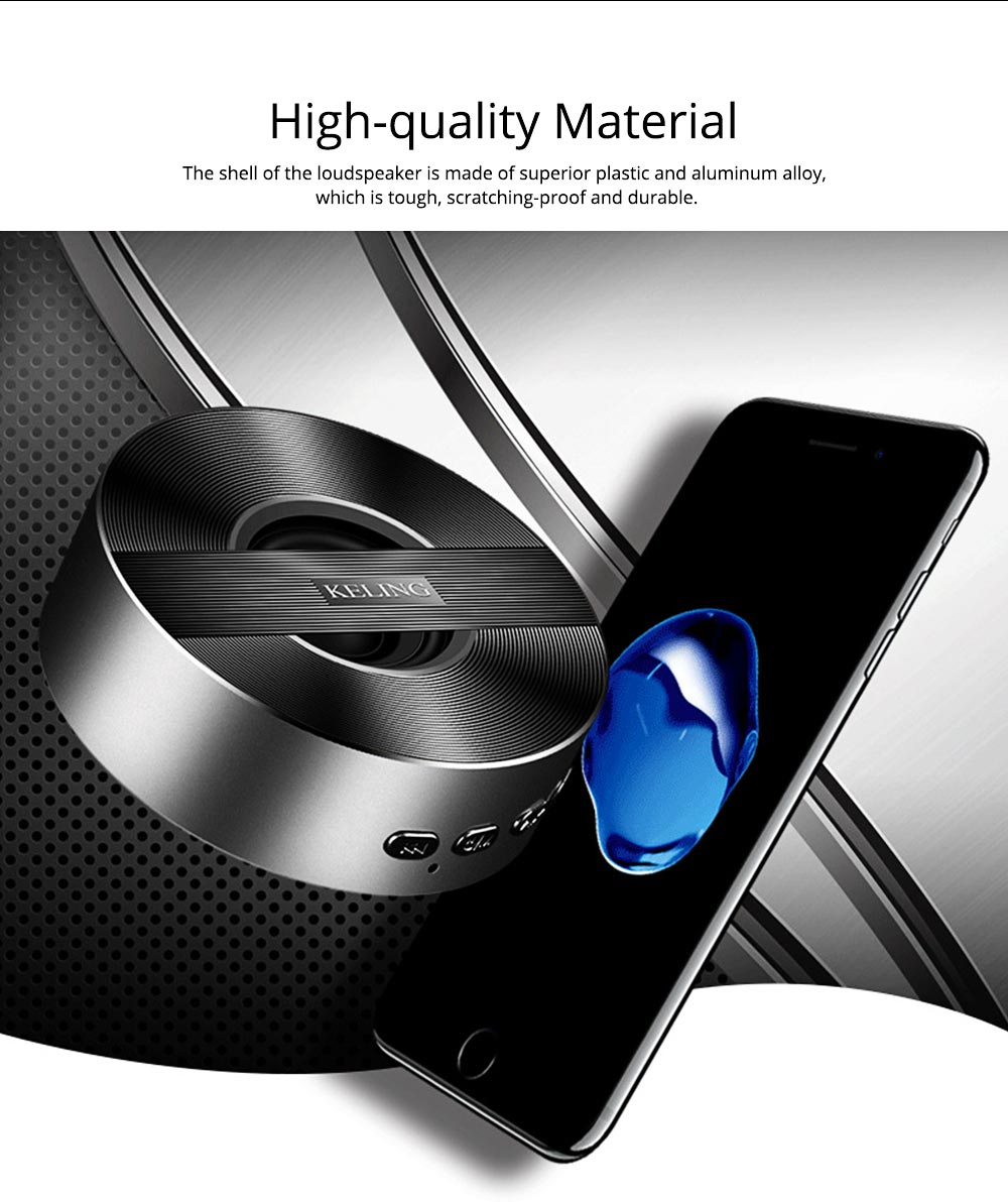 Mini Wireless Bluetooth Speaker, Delicate Subwoofer Card Sound Hands Free Calling Loudspeaker, Portable Phone Audio 1