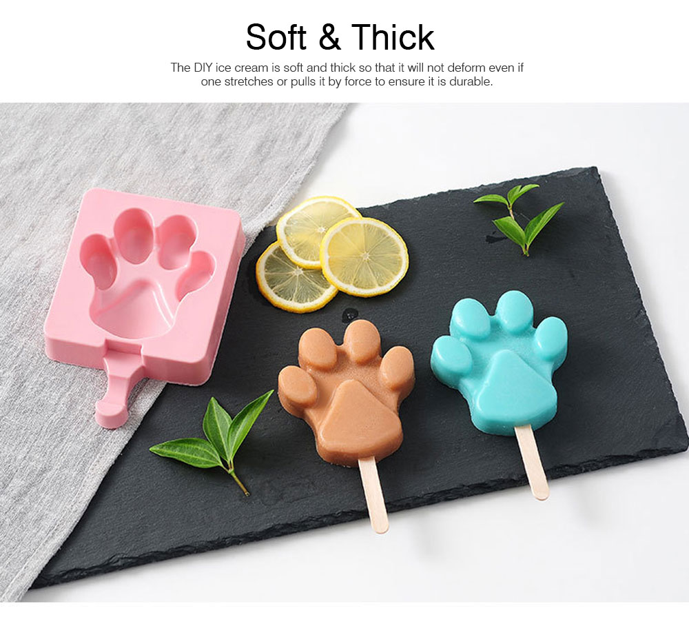 DIY Animal Fruit Shape Ice Cream Mould, Silicone Popsicle Ice Cream Mould Set, Popsicle Molds 3