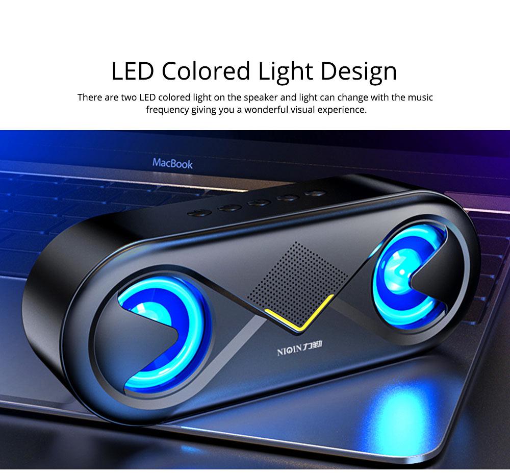 Household Two-eye Design Mini Portable Wireless Bluetooth Speaker, Outdoors Mobile Phone Mega Bass Loudspeaker Sound Box 2