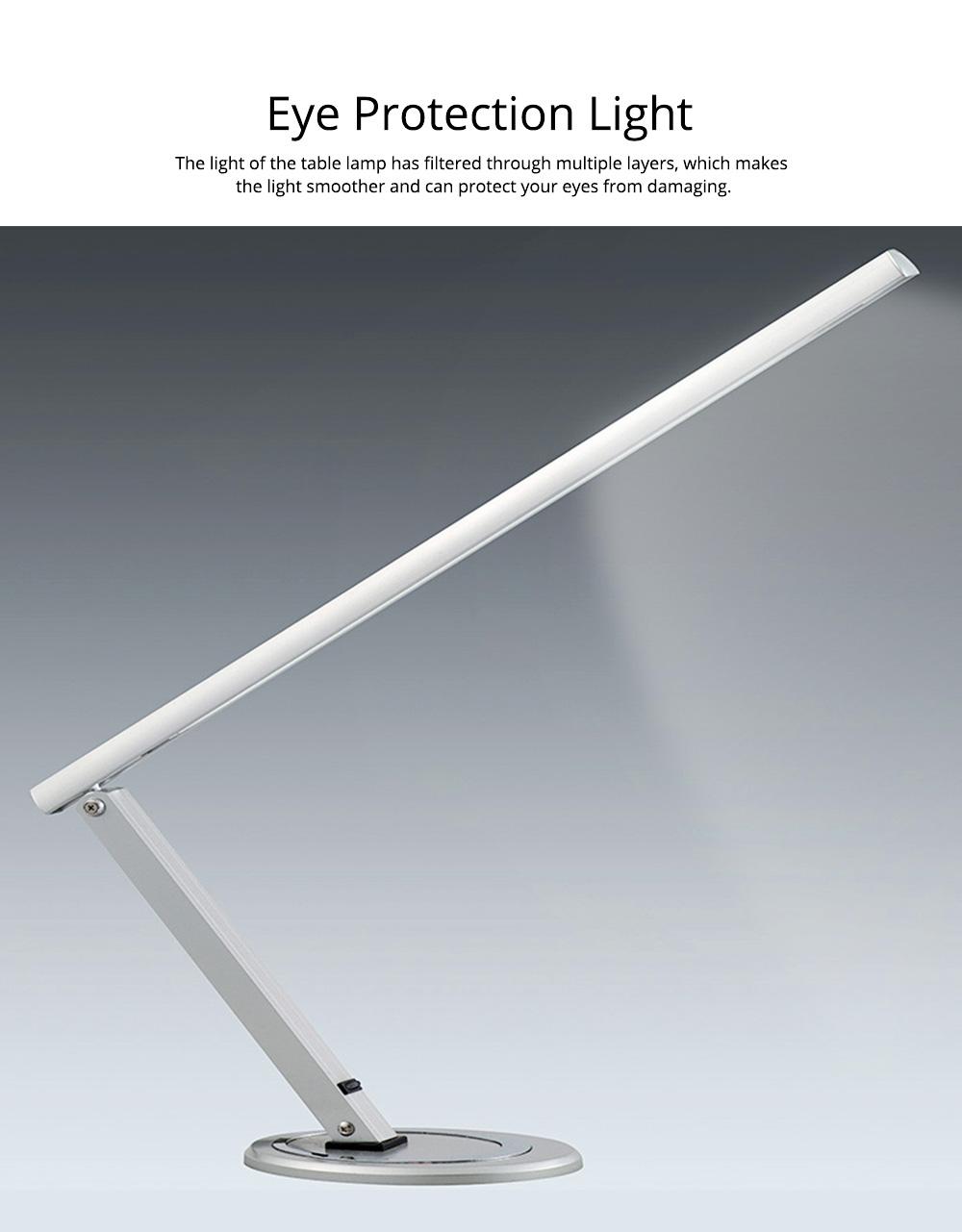 Creative Minimalist Fashion Large Foldable Eye Protection Table Lamp, Modern Tough Aluminum Bedside Office Light 10W Cool White 2