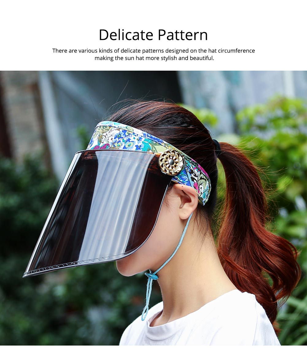 Unisex Summer Outdoor Driving Sun Hat Visor, UV Protection Waterproof PC Adult Cycling Sun Cap 6