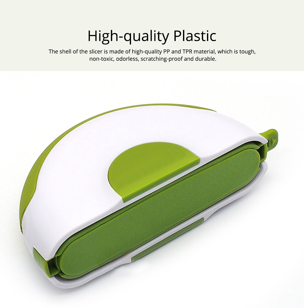Creative Stainless Steel Vegetable Fruit Salad Double Blades Slicer, Safe Rotate Quick Ktichen Cutter Chopper with Lock 1