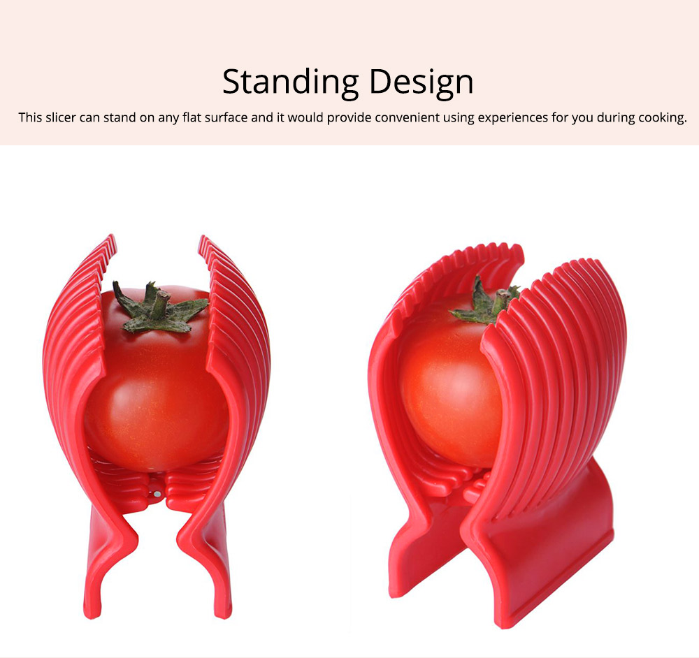 Tomato Lemon Fruits Vegetable Slicer Clip, Handy Kitchen Cooking Onion Plastic Holder Slicing Tools 4