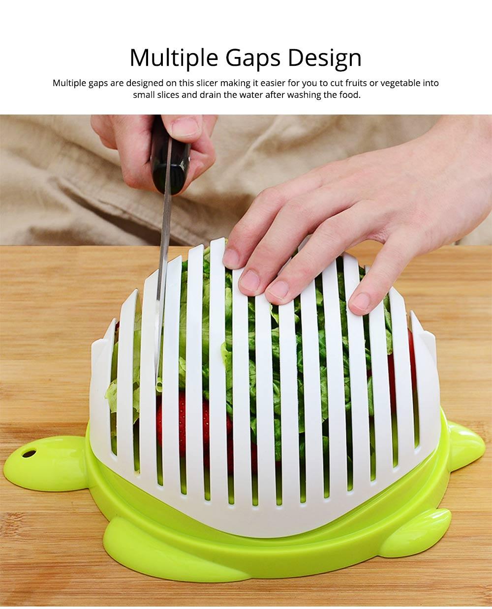 Easy Kit Salad Vegetable Fruits Slicer Chopper Bowl, Kitchen Fresh Food Washer Cutter Maker Tools 2