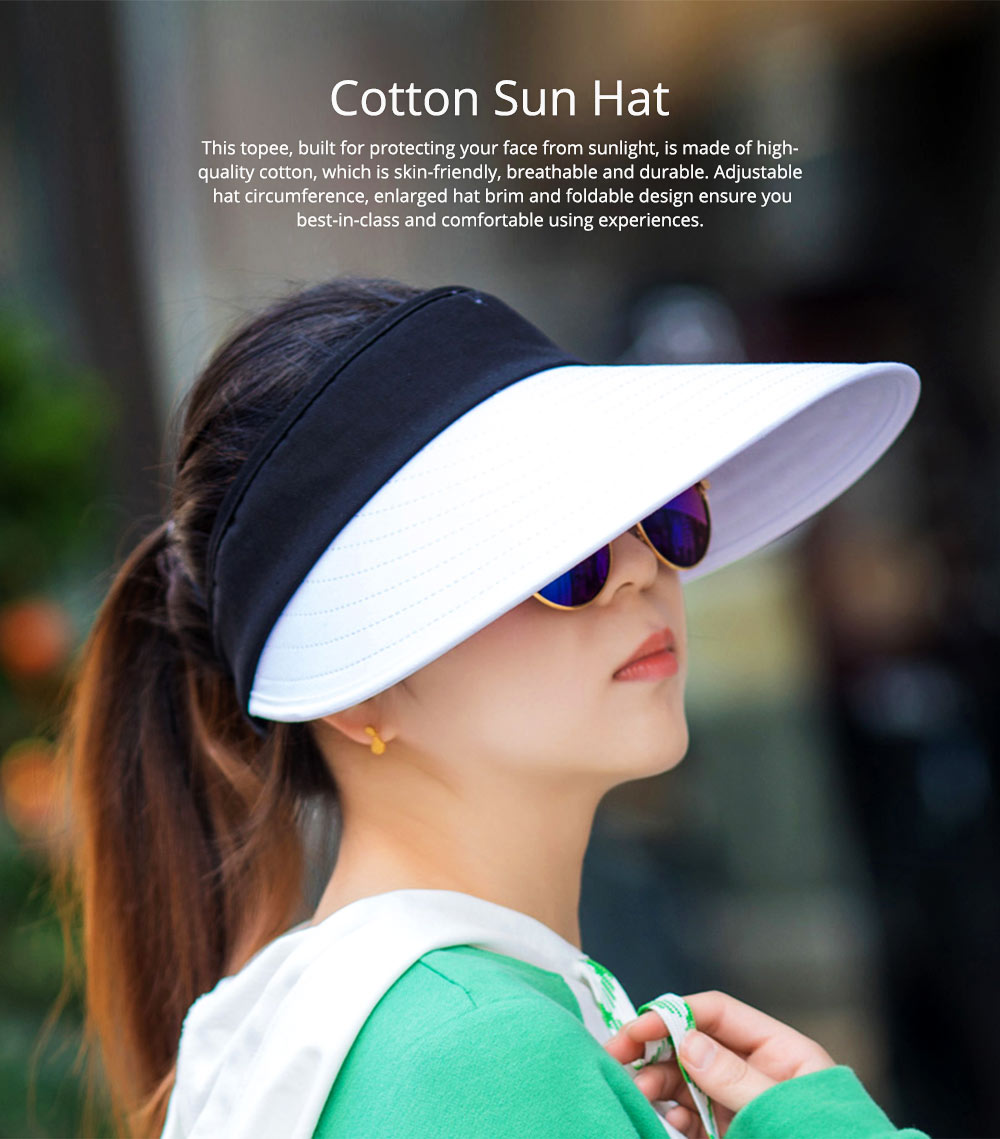 Casual Unisex Summer Skin-friendly Cotton Sun Hat Topee, UV Protection Driving Cycling Sun Cap 0