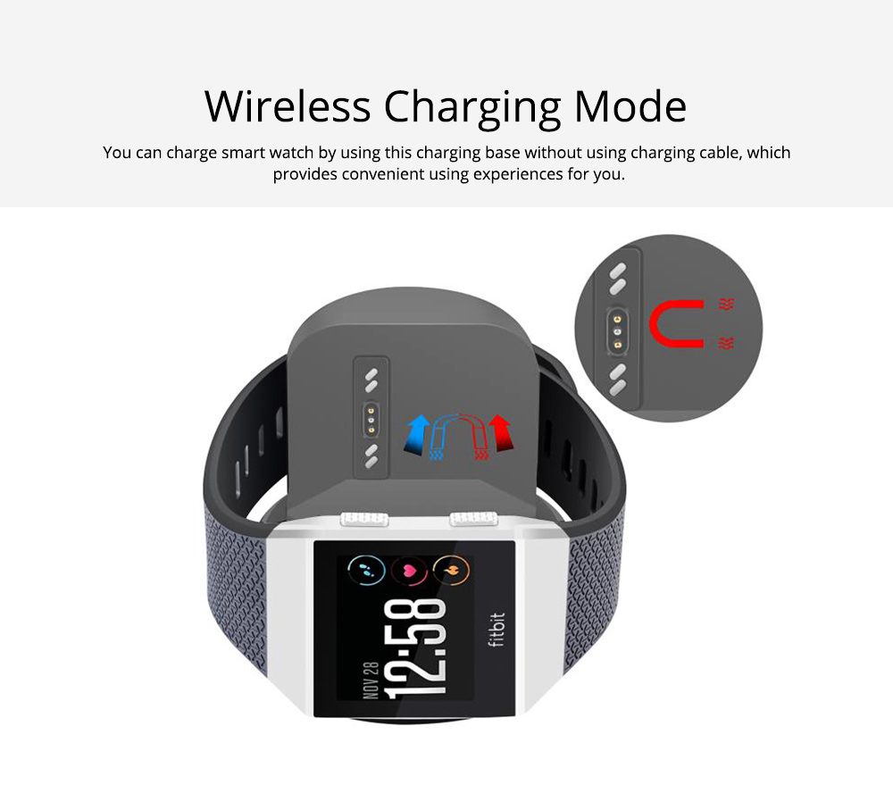 Small Ionic Watch Wireless Charging Base, Scratching-proof Silicone Smart Watch Charger 2