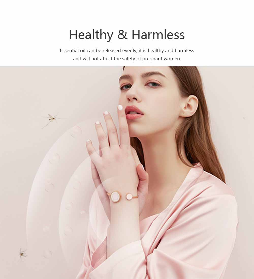 Mosquito Repellent Band, Titanium Steel Material Harmless with Perfume Incense Core, Safe for Pregnant Women Anti-mosquito Bracelet 6