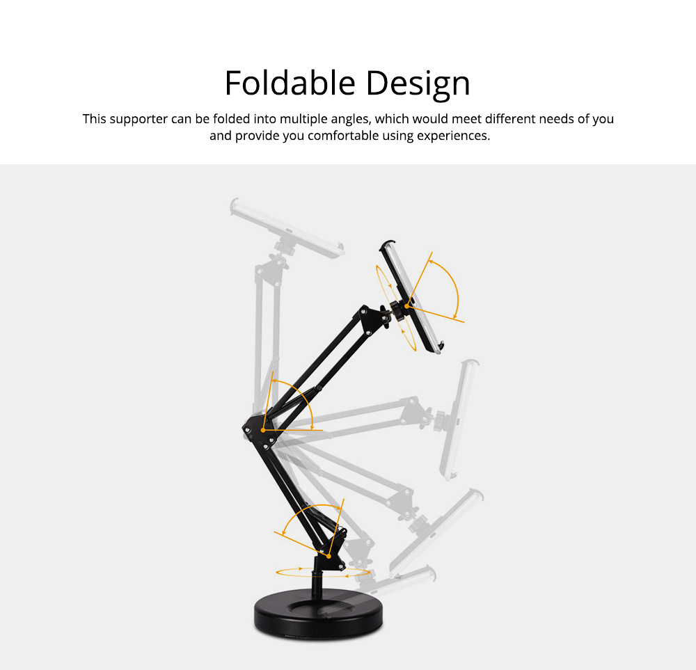 Creative Foldable Mobile Phone Cantilever Type Supporter, Quality Carbon Steel ABS Table Tablet Holder for 3.5 to 11 inch iphone ipad Samsung Tab 2