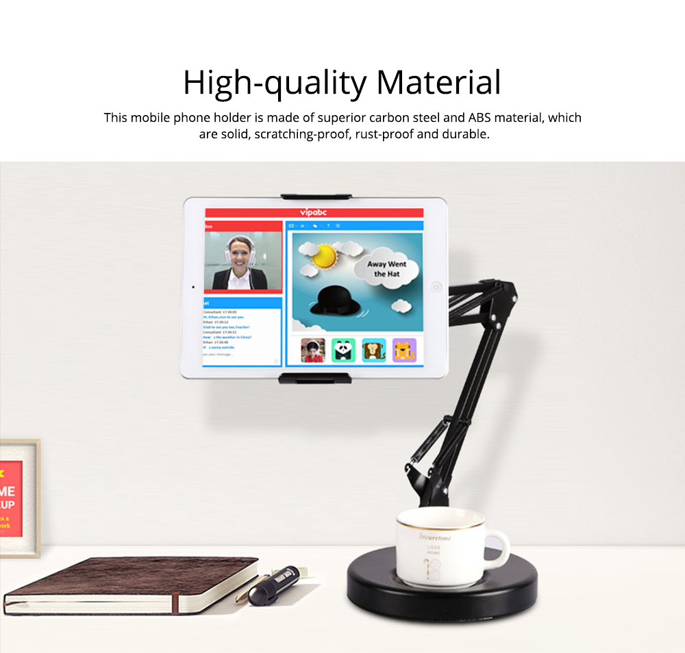Creative Foldable Mobile Phone Cantilever Type Supporter, Quality Carbon Steel ABS Table Tablet Holder for 3.5 to 11 inch iphone ipad Samsung Tab 1