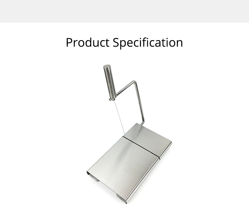 Professional Quality 304 Stainless Steel Cheese Slicer, Butter Cutter Board with Replaceable Slicing Line 6