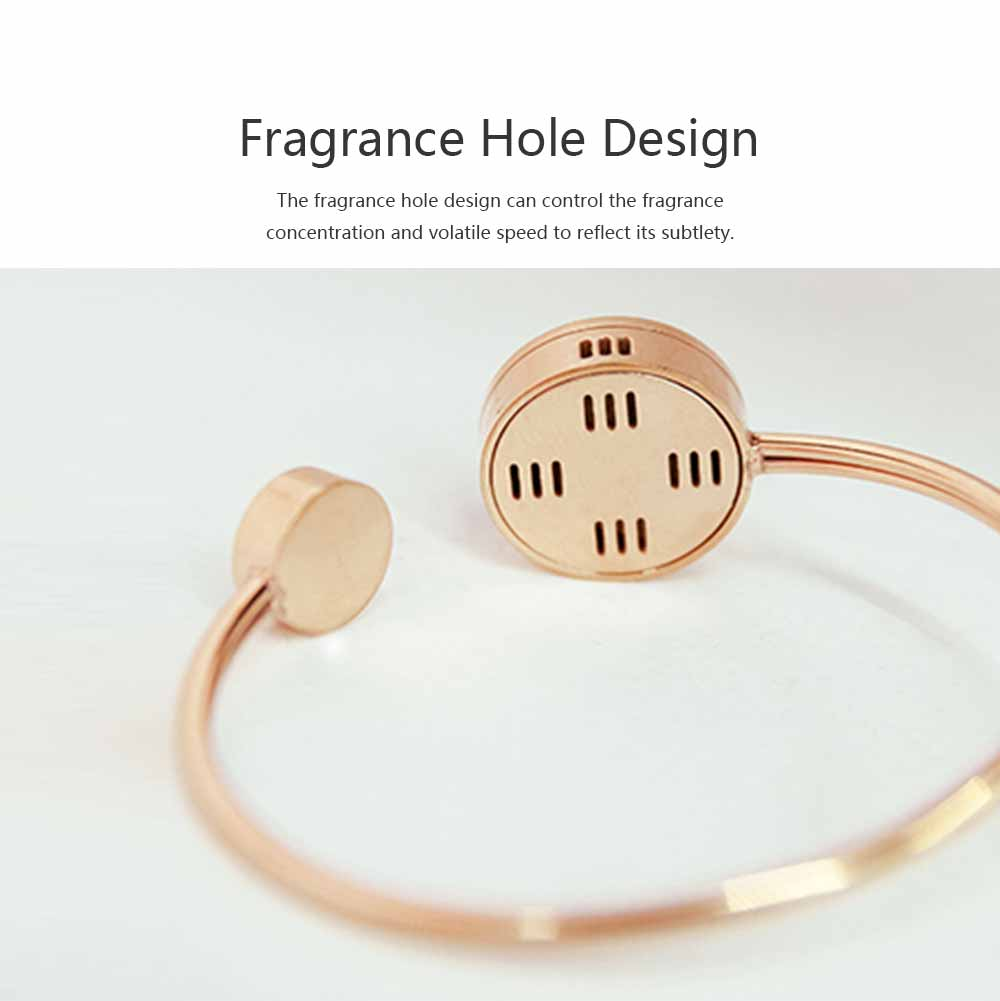 Mosquito Repellent Band, Titanium Steel Material Harmless with Perfume Incense Core, Safe for Pregnant Women Anti-mosquito Bracelet 4