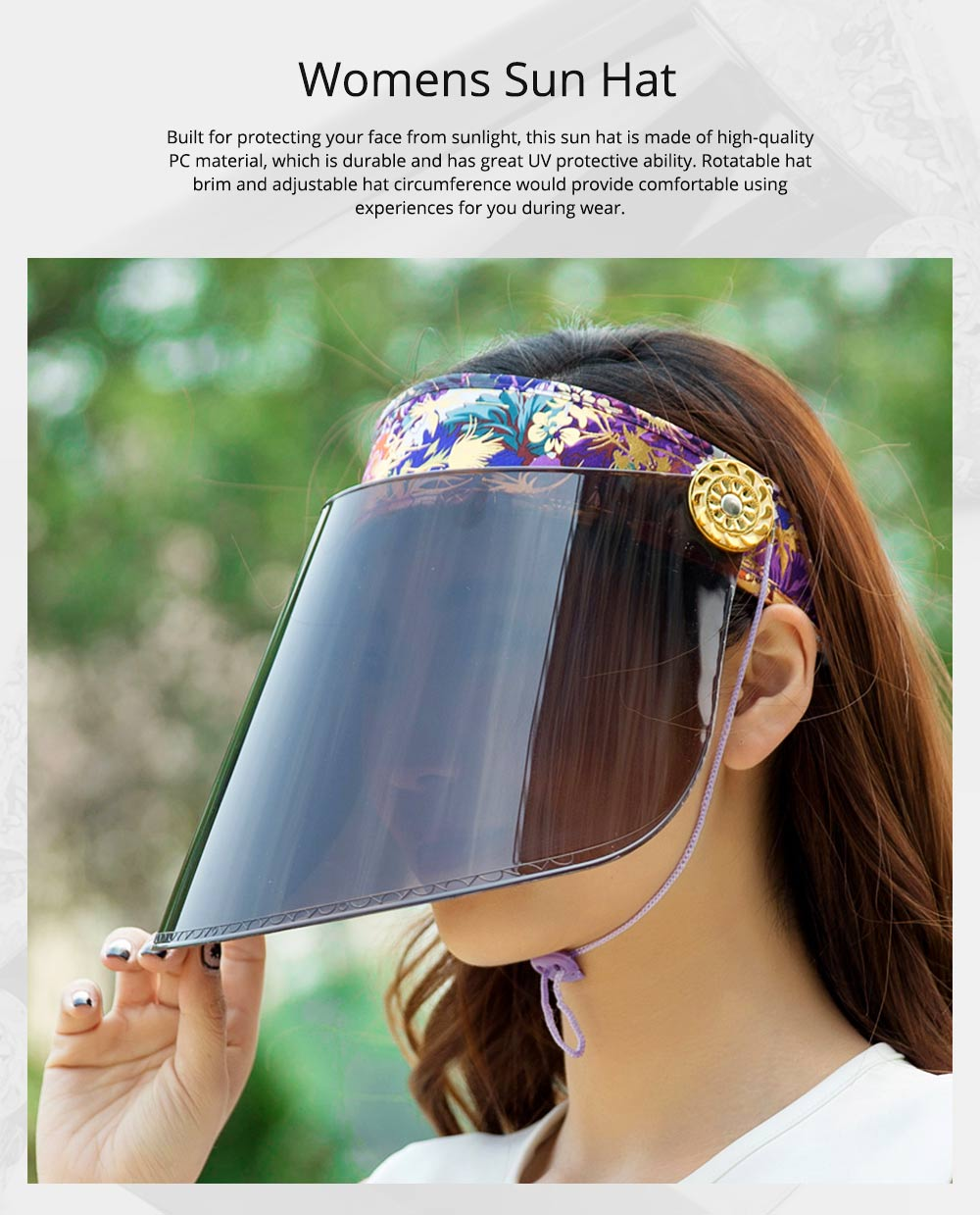 Unisex Summer Outdoor Driving Sun Hat Visor, UV Protection Waterproof PC Adult Cycling Sun Cap 0