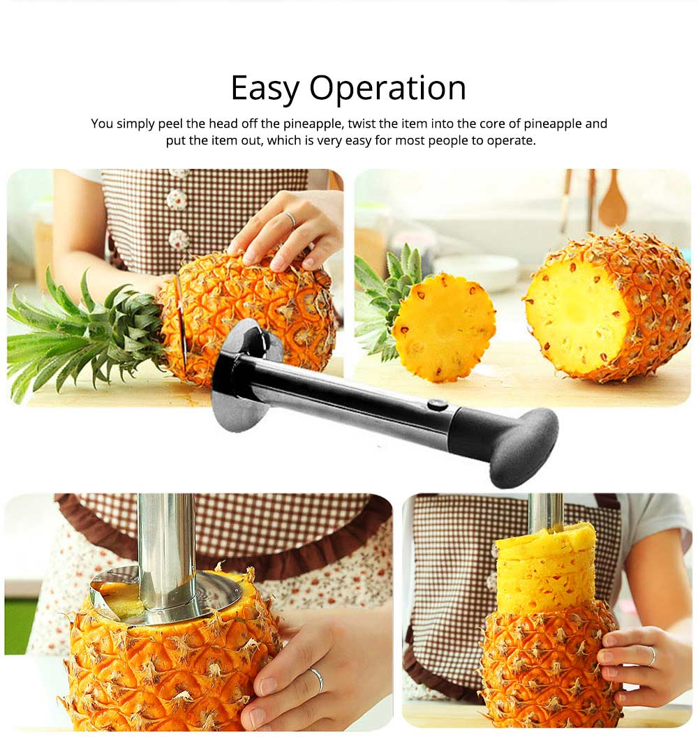 Creative Handy Stainless Steel Pineapple Corer Peeler, Easy Kitchen Fruit Slicer Cutter Cooking Tools Gadget 5