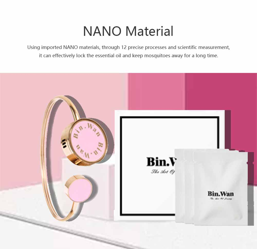 Mosquito Repellent Band, Titanium Steel Material Harmless with Perfume Incense Core, Safe for Pregnant Women Anti-mosquito Bracelet 1