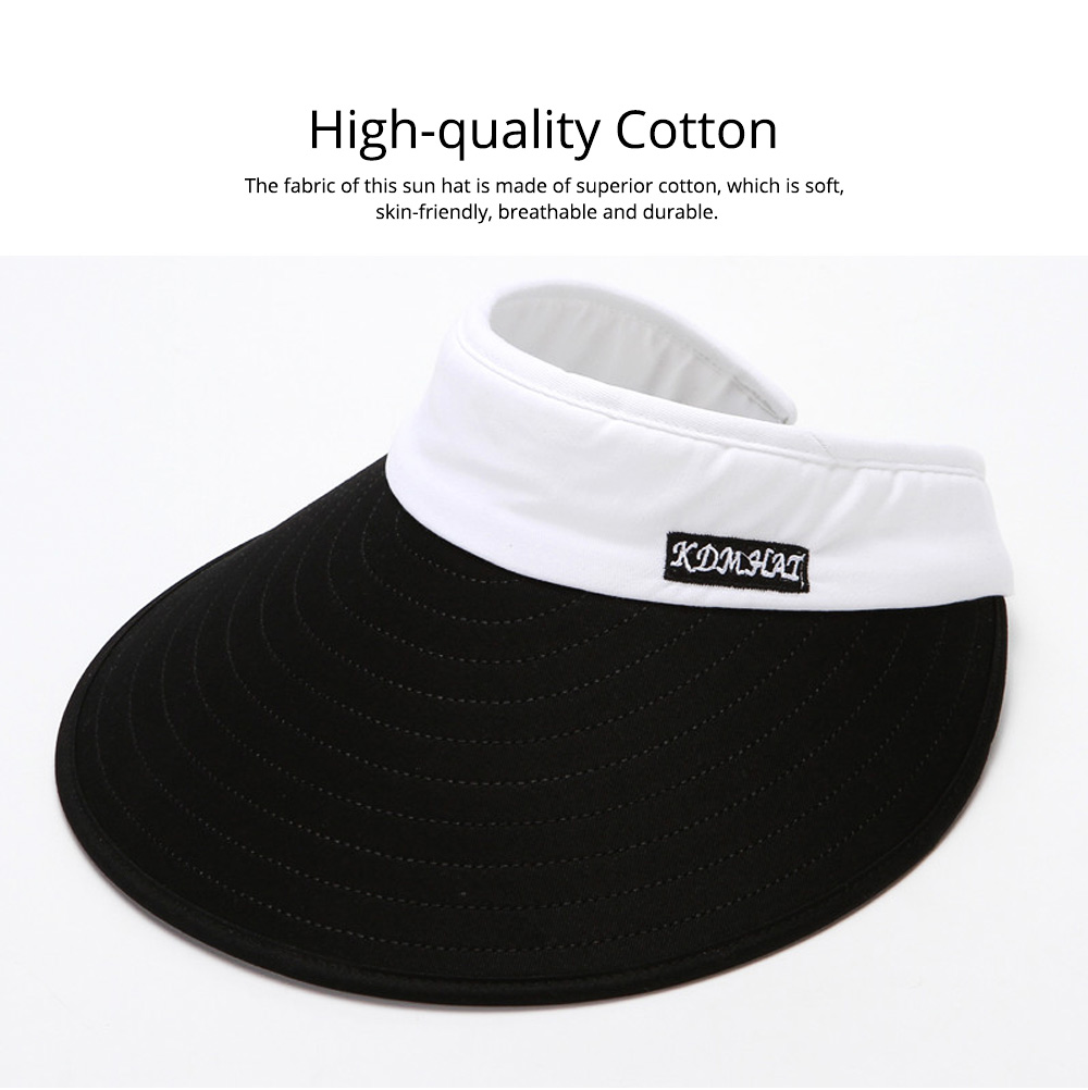 Casual Unisex Summer Skin-friendly Cotton Sun Hat Topee, UV Protection Driving Cycling Sun Cap 1
