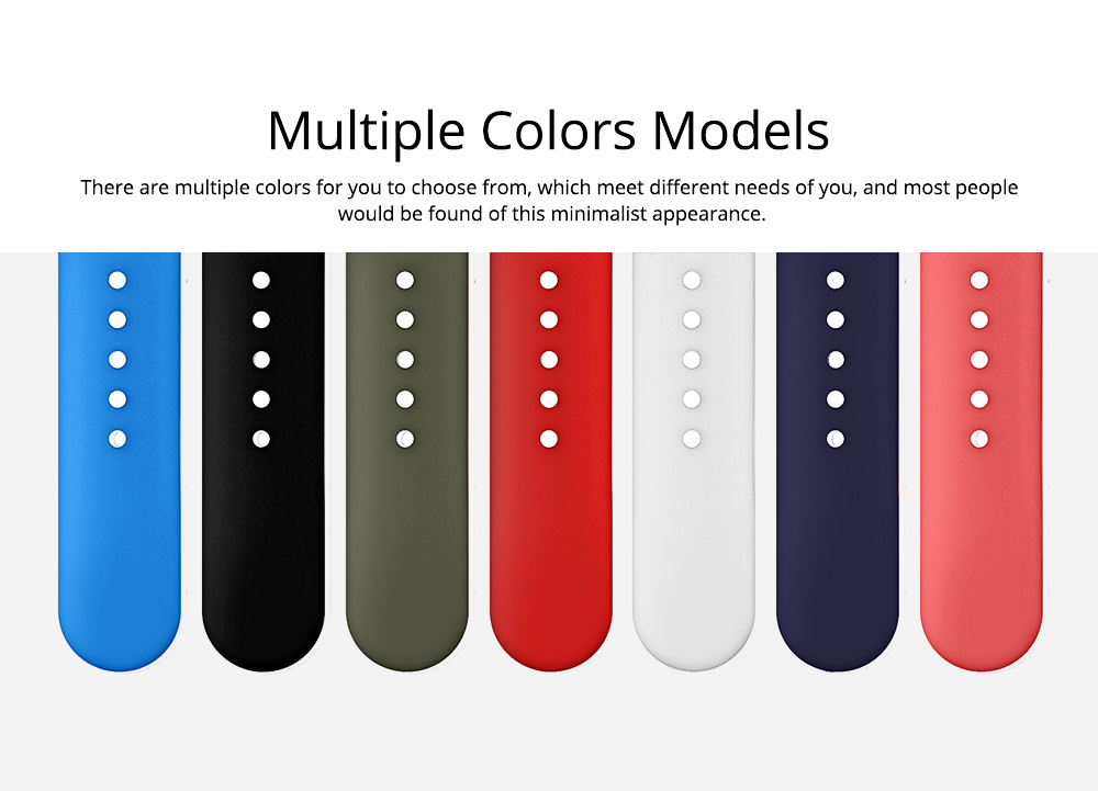 Skin-friendly Silicone Single Colored iWatch Watchband, Unisex Universal Sports Durable Apple Watch Strap 4