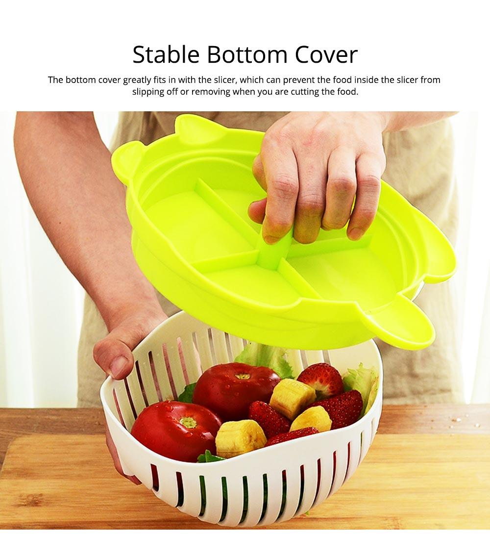 Easy Kit Salad Vegetable Fruits Slicer Chopper Bowl, Kitchen Fresh Food Washer Cutter Maker Tools 3