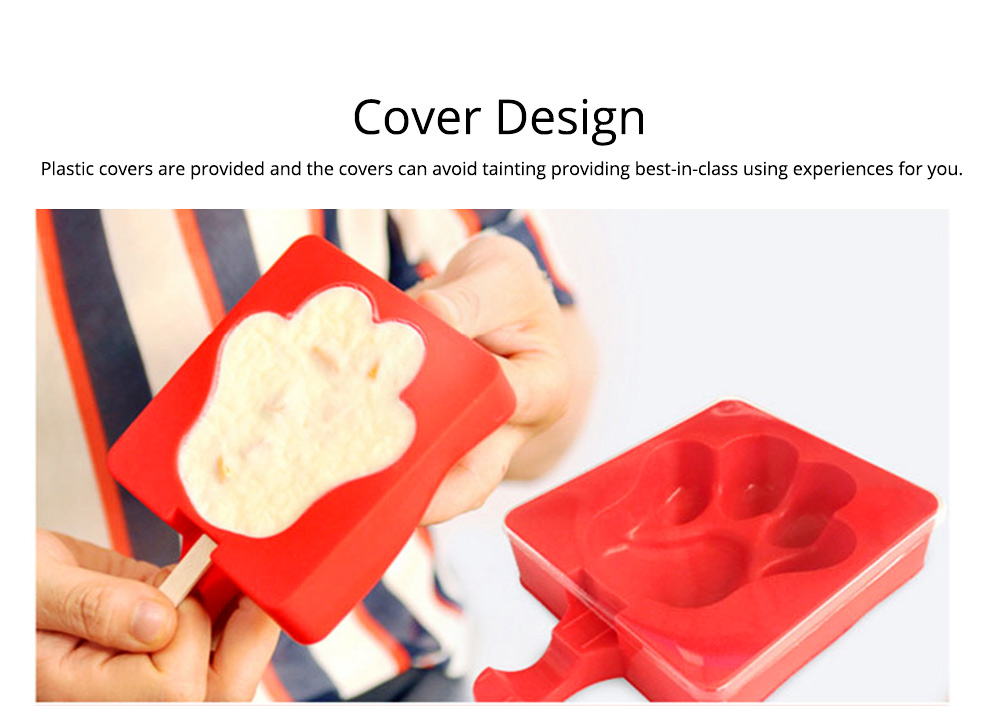 Creative Cute Carton Ice Mold, Silicone Frozen Ice-cream Mould, Safe DIY Juice Popsicle Ice Maker Mold Kitchen Tools 2