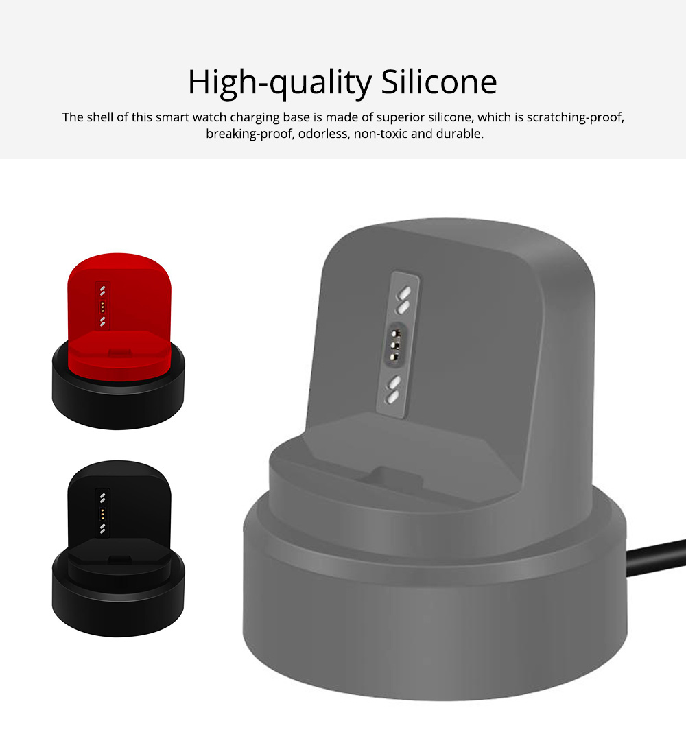 Small Ionic Watch Wireless Charging Base, Scratching-proof Silicone Smart Watch Charger 1