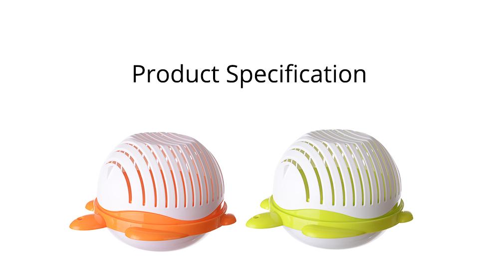 Easy Kit Salad Vegetable Fruits Slicer Chopper Bowl, Kitchen Fresh Food Washer Cutter Maker Tools 6
