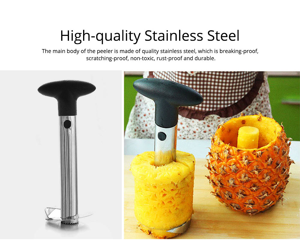 Creative Handy Stainless Steel Pineapple Corer Peeler, Easy Kitchen Fruit Slicer Cutter Cooking Tools Gadget 1