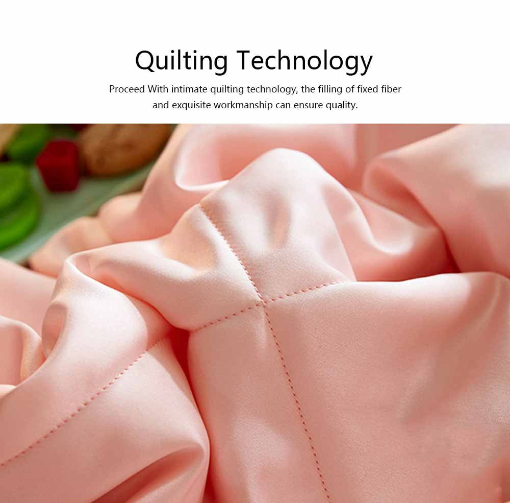 Quilt Ice Silk Material Washable Bedspreads, Fill with Polyester Fiber Smooth Comforter in Summer, Skin-friendly Blanket Summer Quilt 7
